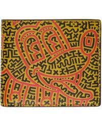 メンズ COACH Keith Haring エディション ブラック Mickey ウォレット Multicolor