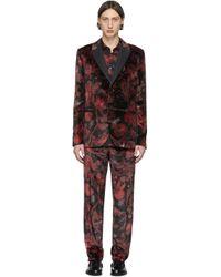 メンズ Paul Smith レッド & ブラック フローラル Goliath スーツ Red