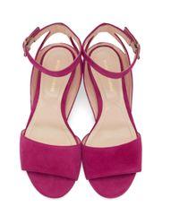 Nicholas Kirkwood - Pink Suede Lola Pearl Sandals - Lyst