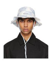 Chapeau Le Bob Artichaut bleu et blanc Jacquemus pour homme en coloris Blue