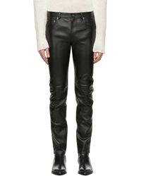 メンズ Saint Laurent ブラック スキニー パンツ Black