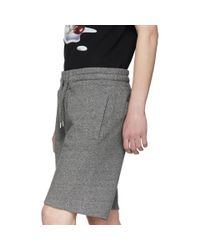 KENZO Gray Grey Logo Sweat Shorts for men