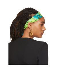 Bandeau vert et bleu Jungle Versace en coloris Green