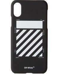 メンズ Off-White c/o Virgil Abloh ブラック & ホワイト ダイアゴナル Iphone X ケース Black