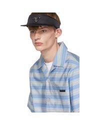 メンズ Prada ブルー ストライプ バハマ シャツ Blue