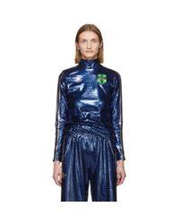 Adidas Originals Anna Isoniemi Edition インディゴ シークイン タートルネック Blue