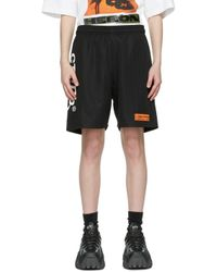 Heron Preston ブラック & ホワイト ロゴ バスケット ショーツ Black