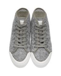 Rag & Bone - Gray Grey Wool Standard Issue High-top Sneakers - Lyst