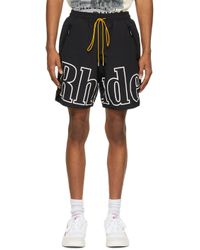 メンズ Rhude Ssense 限定 ブラック & ホワイト Rh ロゴ ショーツ Black