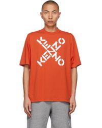 メンズ KENZO オレンジ Sport Big X T シャツ Orange