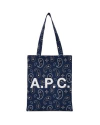 A.P.C. ネイビー Lou トート Blue