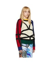 CHARLES JEFFREY LOVERBOY Black Lord Of The Flies Sweater