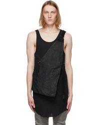 メンズ Boris Bidjan Saberi ブラック Bag 1.1 ベスト Black