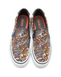 KENZO Multicolor Flying Tiger Slip-on Sneakers