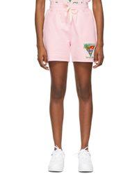 CASABLANCA ピンク Tennis Club ショーツ Pink