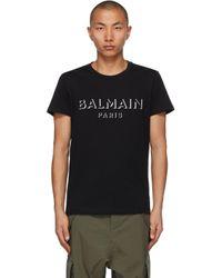 メンズ Balmain ブラック 3d ロゴ T シャツ Black