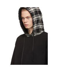 Sweat à capuche à carreaux superposés 1017 ALYX 9SM pour homme en coloris Black