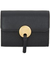 Chloé | Black Mini Indy Wallet | Lyst