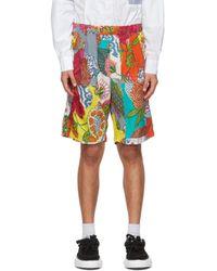 メンズ Engineered Garments マルチカラー フローラル Sunset ショーツ Multicolor