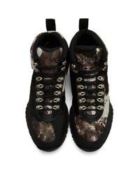 メンズ 1017 ALYX 9SM ブラウン ポニー カモ ハイキング ブーツ Black