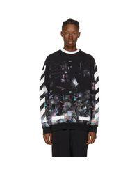 Off-White c/o Virgil Abloh Black Brushed Galaxy Sweatshirt for men
