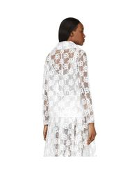 Simone Rocha - Multicolor Clear Embroidered Plastic Biker Jacket - Lyst