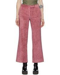 Marina Moscone ピンク コーデュロイ トラウザーズ Pink