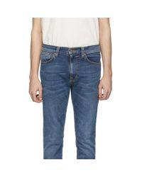 メンズ Nudie Jeans ブルー Lean Dean ジーンズ Blue