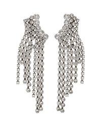 Isabel Marant Multicolor Silver Cascading Earrings