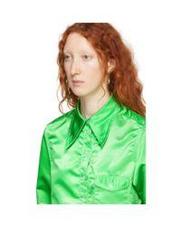 Kwaidan Editions グリーン ポインテッド カラー シャツ Green