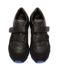 Stella McCartney - Black Velcro Macy Sneakers - Lyst