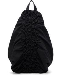 Yohji Yamamoto ブラック Shirring バックパック Black