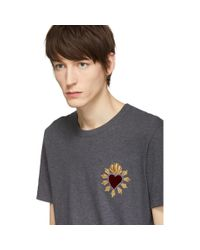 Dolce & Gabbana Gray Grey Sacre Coeur Patch T-shirt for men