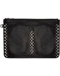 Jimmy Choo - Black Punk Studs Derek Pouch for Men - Lyst