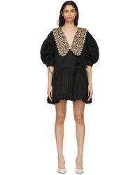 Kika Vargas ブラック Victoria ドレス Black