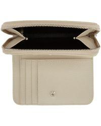 Saint Laurent White Ivory Rive Gauche Compact Zip Around Wallet