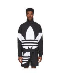 Adidas Originals Black Big Trefoil Track Jacket for men