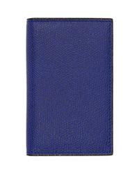 Porte-cartes bleu Business Valextra pour homme en coloris Blue