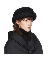 Y's Yohji Yamamoto ブラック ドレープ ハット Black