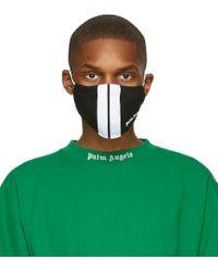 メンズ Palm Angels ブラック & ホワイト クラシック Track マスク Green