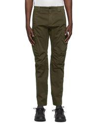 メンズ C P Company グリーン Garment Dyed Utility カーゴ パンツ Green