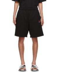 メンズ Balenciaga ブラック Gym Wear ショーツ Black