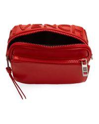 メンズ Givenchy レッド Mc3 リバース ロゴ クロスボディ バッグ Red
