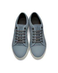 Lanvin Blue Suede Tennis Sneakers for men