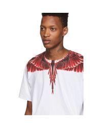メンズ Marcelo Burlon ホワイト レッドゴースト ウィング T シャツ Red