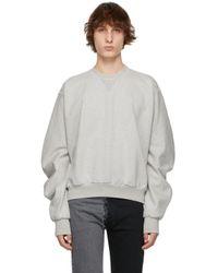 メンズ Maison Margiela グレー スウェットシャツ Gray