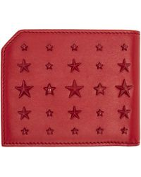 Jimmy Choo | Red Mixed Stars Albany Wallet for Men | Lyst