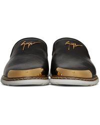 Giuseppe Zanotti Black Leather Kevin 10 Loafers for men