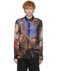 メンズ Soulland マルチカラー シルク Harry シャツ Multicolor