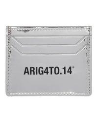 メンズ Axel Arigato シルバー Est 14 シグネチャ カード ホルダー Metallic